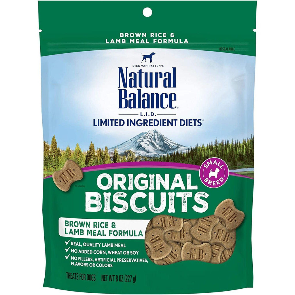 Natural Balance Dog Treats L.I.T. Rice & Lamb 227g Dog Treats - PetMax