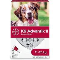 K9 Advantix II Large Dogs 11Kg - 25Kg / 6 Pack Dog Flea & Tick - PetMax
