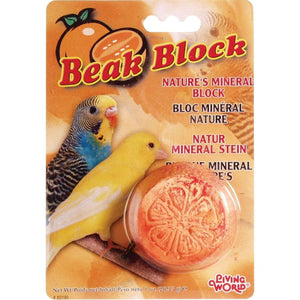 Living World Mineral Block Orange  Bird Treats - PetMax
