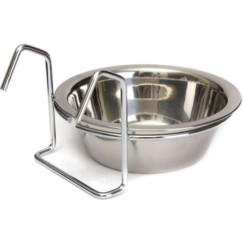 Bird Coop Cup Stainless Steel, Bird Dishes, Burgham Sales Ltd. - PetMax Canada
