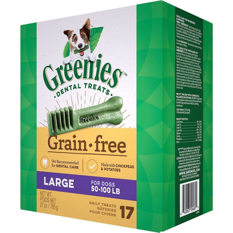 Greenies Grain Free Dental Treats Large, Dog Treats, Greenies - PetMax
