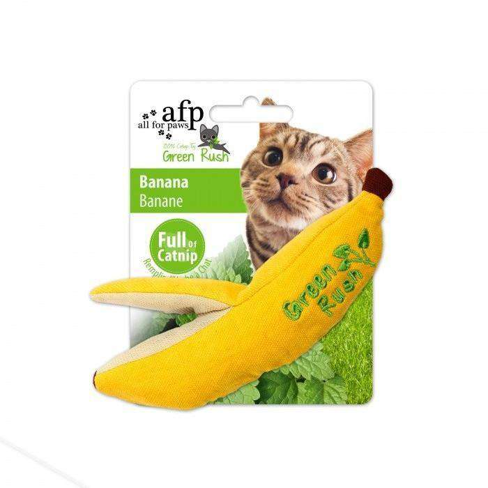 All For Paws Cat Toy Green Rush Banana  Cat Toys - PetMax