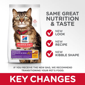 Science Diet Cat Food Adult Sensitive Stomach | Dry Cat Food -  pet-max.myshopify.com