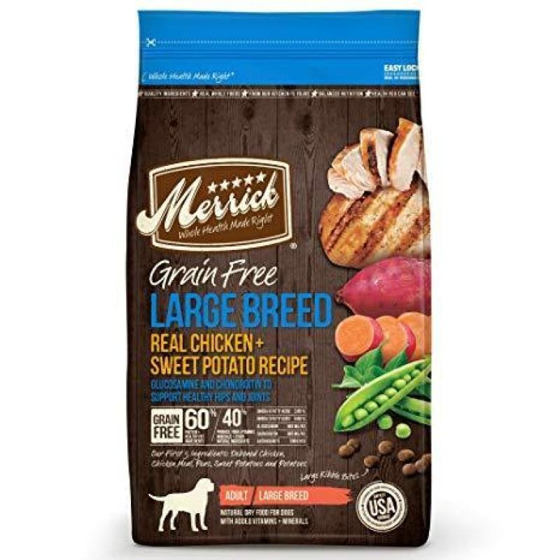 Merrick Dog Food Grain Free Large Breed Chicken & Sweet Potato  Dog Food - PetMax