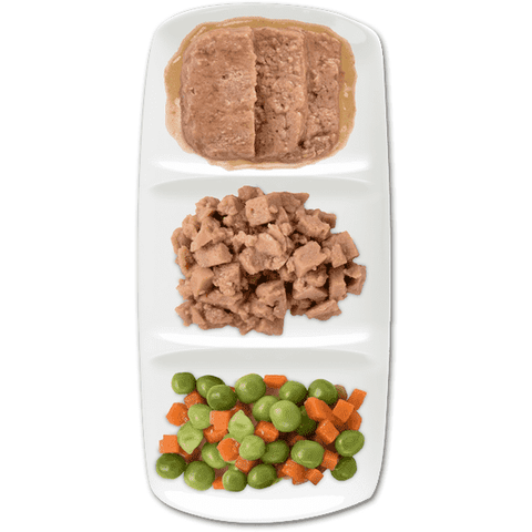 Zoe Tempting Trios Chicken Cuts With Carrots & Peas, Canned Dog Food, Zoe Pet Food - PetMax Canada