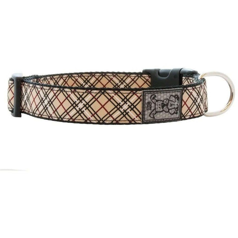 RC Dog Adjustable Collar Pattern Tan Tartan