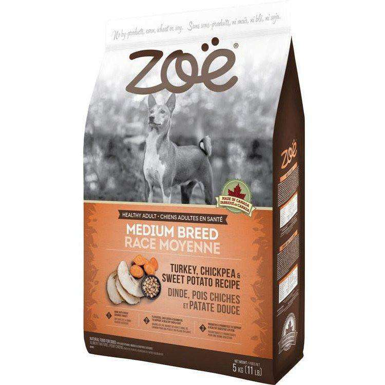 Zoe Dog Adult Medium Breed Turkey, Chickpea, Potato, Dog Food, Rolf C Hagen Inc. - PetMax Canada
