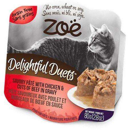 Zoe Delightful Duets Chicken Cuts With Beef Gravy, Canned Cat Food, Zoe Pet Food - PetMax Canada