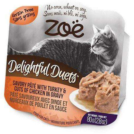 Zoe Delightful Duets Turkey Cuts With Chicken Gravy, Canned Cat Food, Zoe Pet Food - PetMax Canada