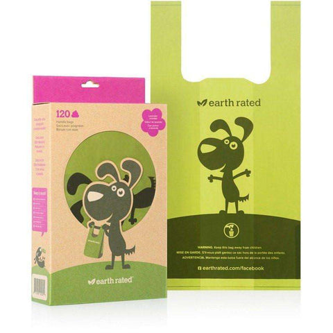 Earth Rated Eco-Friendly Poop Bags With Handle, Waste Management, Earth Rated Poop Bags - PetMax