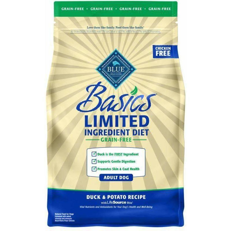 Blue Basics Adult Dog Food Grain Free Duck & Potato | Dog Food -  pet-max.myshopify.com