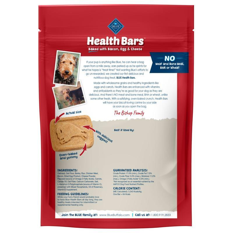 Blue Health Bars Bacon, Egg & Cheese  Dog Treats - PetMax