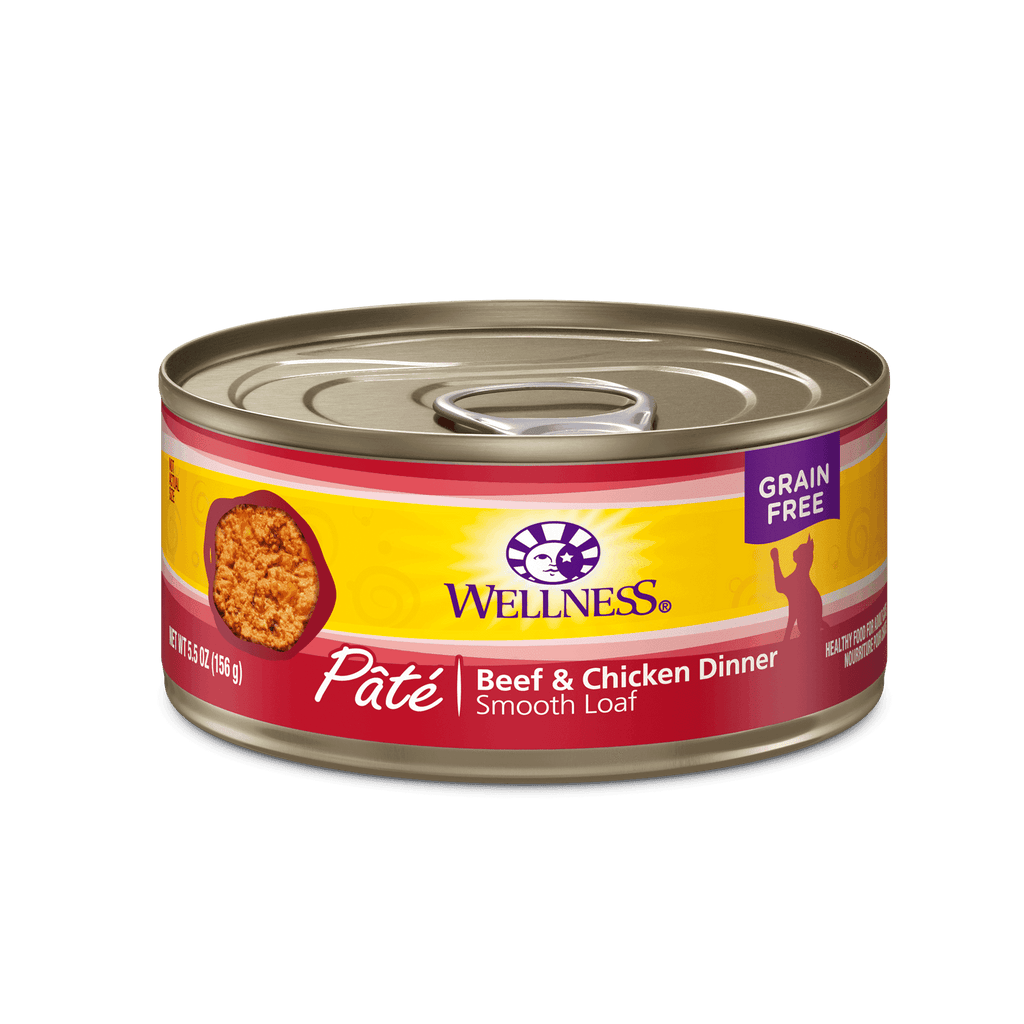 Wellness Canned Cat Food Beef & Chicken  Canned Cat Food - PetMax