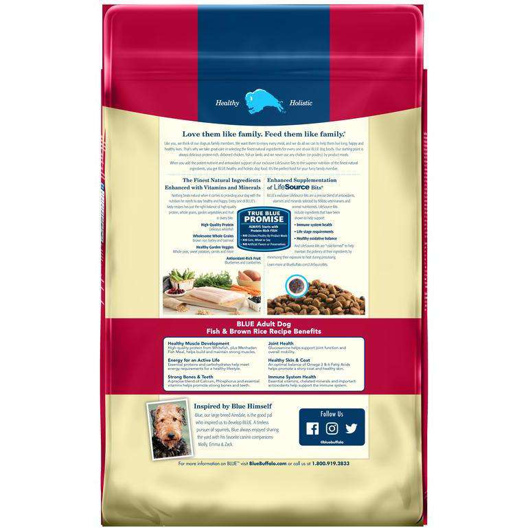 Blue Buffalo Life Protection Dog Food Fish & Brown Rice  Dog Food - PetMax