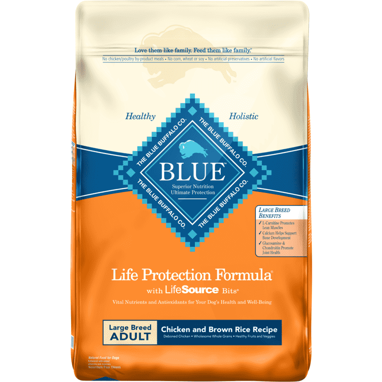 Blue Buffalo Life Protection Dog Food Large Breed Chicken & Rice  Dog Food - PetMax
