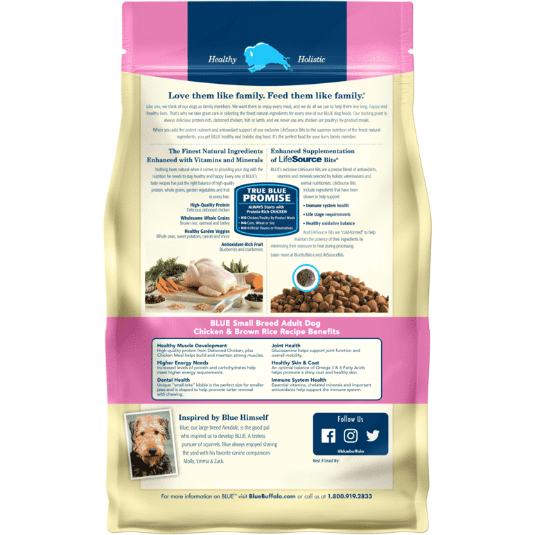 Blue Buffalo Life Protection Dog Food Small Breed Chicken & Rice  Dog Food - PetMax