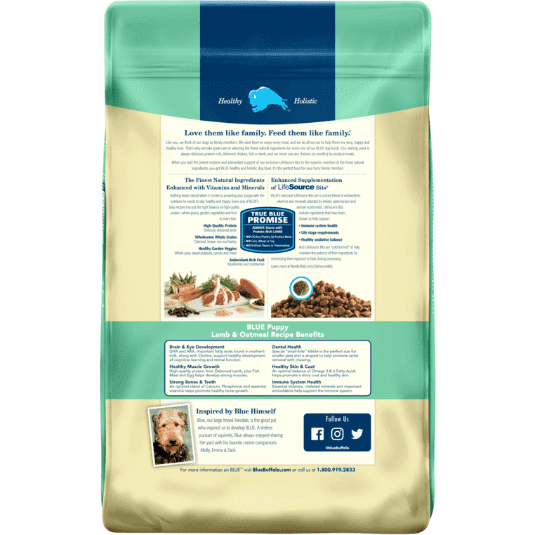 Blue Buffalo Life Protection Puppy Food Lamb & Oatmeal  Dog Food - PetMax