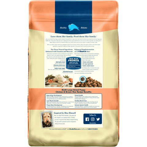Blue Buffalo Life Protection Puppy Food Large Breed Chicken & Rice