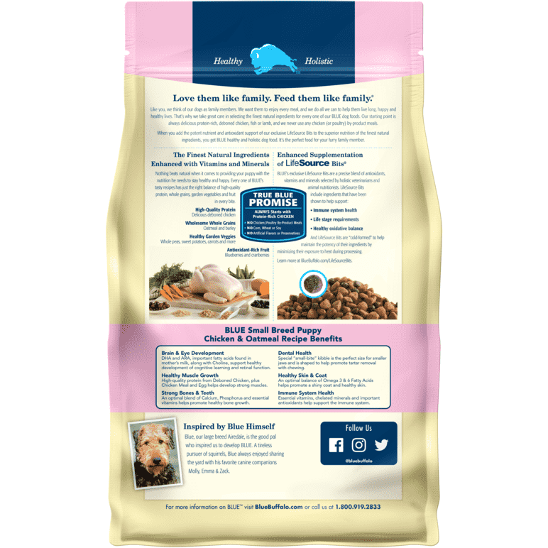 Blue Buffalo Life Protection Puppy Food Small Breed Chicken & Oatmeal  Dog Food - PetMax