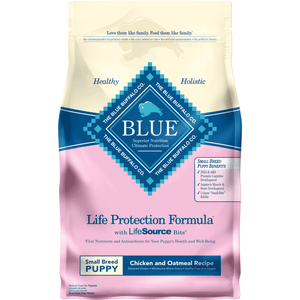 Blue Buffalo Life Protection Puppy Food Small Breed Chicken & Oatmeal Dog Food [variant_title] [option1] - PetMax.ca