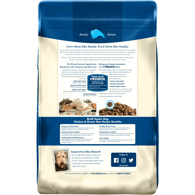 Blue Buffalo Life Protection Senior Dog Food  Dog Food - PetMax