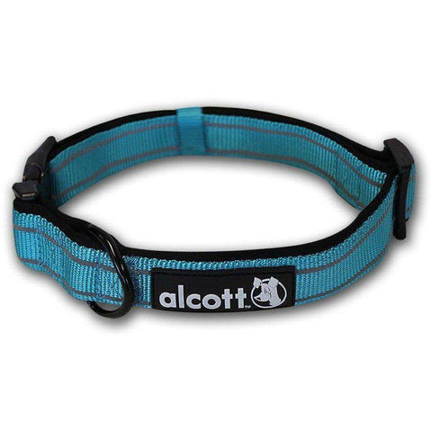 Alcott Adventure Adjustable Collar Blue, Dog Collars, Alcott - PetMax