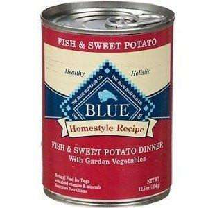 Blue Buffalo Homestyle Canned Dog Food Fish & Sweet Potato, Canned Dog Food, Blue Buffalo Company - PetMax Canada
