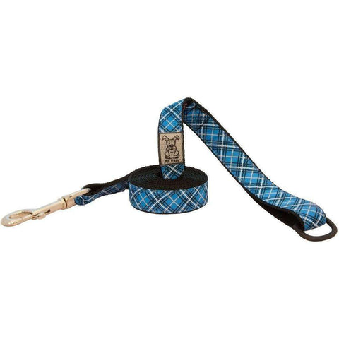 RC Dog Leash Pattern Blue Tartan, Leashes, RC Pet Products - PetMax Canada