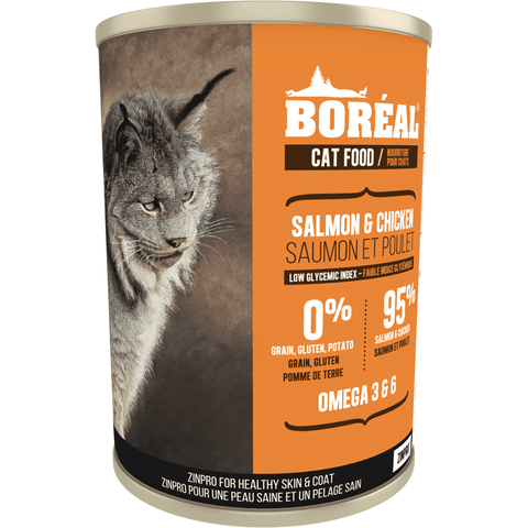 Boreal Canned Cat Food Salmon & Chicken - Case of 12, Canned Cat Food, Boreal Pet Food - PetMax