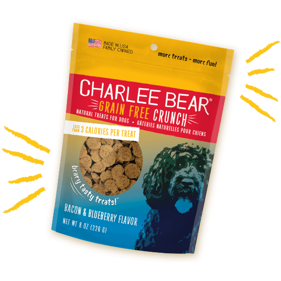 Charlee Bear Dog Treats Grain Free Bacon & Blueberry