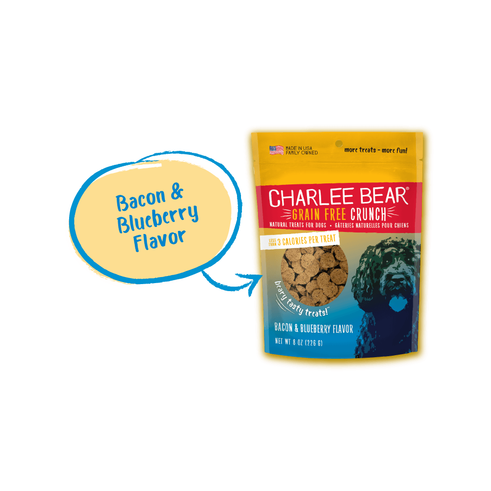 Charlee Bear Dog Treats Grain Free Bacon & Blueberry  Dog Treats - PetMax