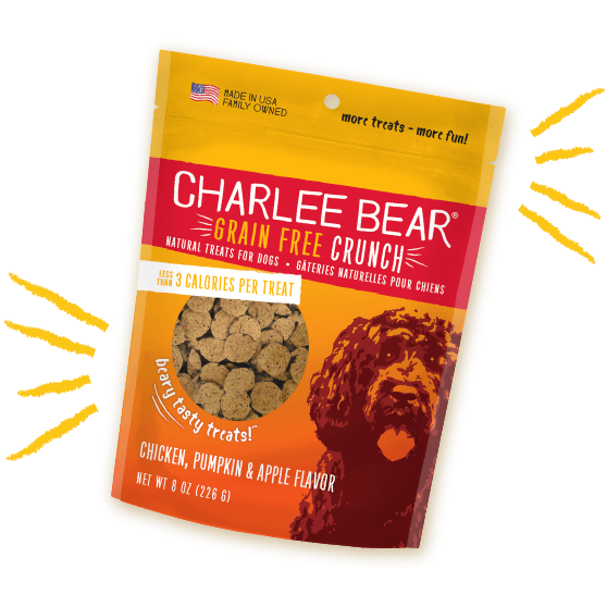 Charlee Bear Dog Treats Grain Free Chicken, Pumpkin & Apple