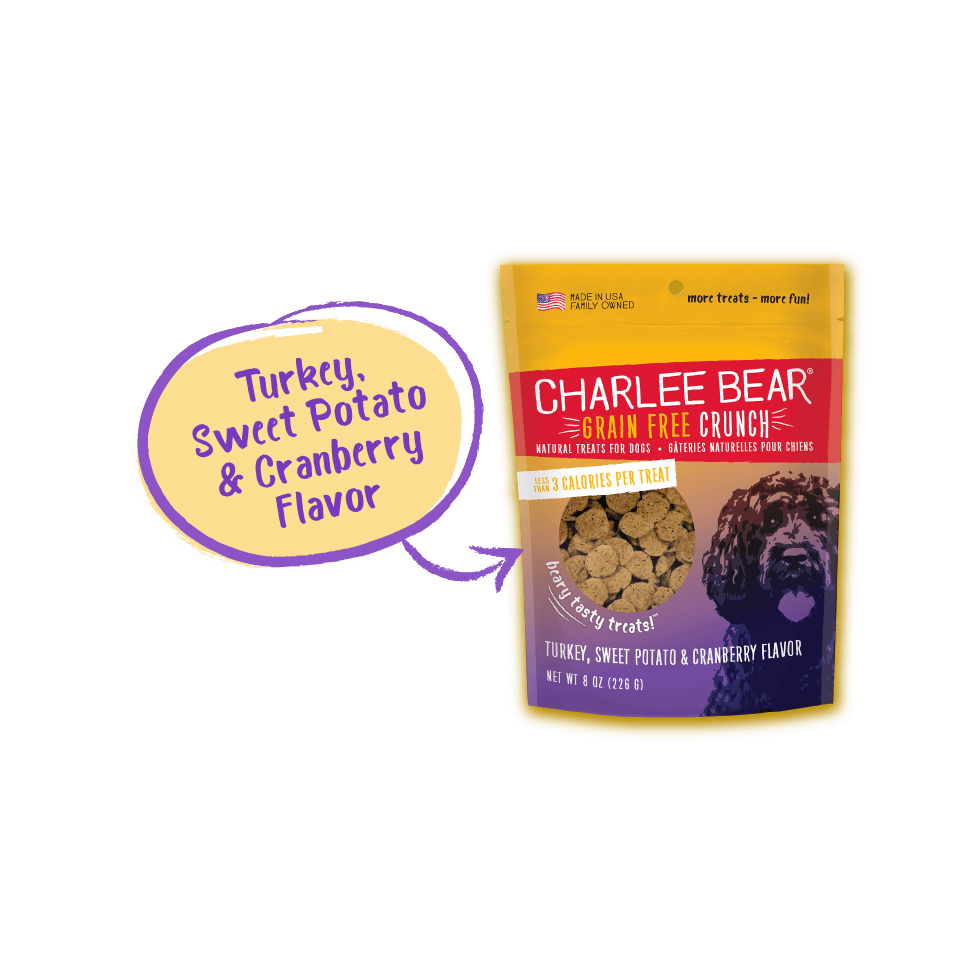 Charlee Bear Dog Treats Grain Free Turkey, Sweet Potato & Cranberry