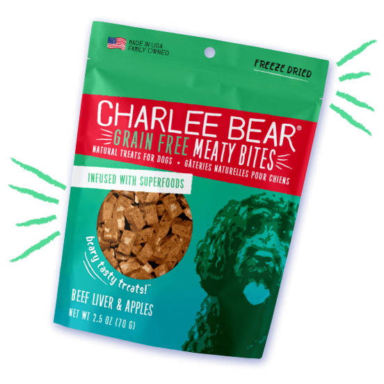 Charlee Bear Grain Free Meaty Bites Beef Liver & Apple