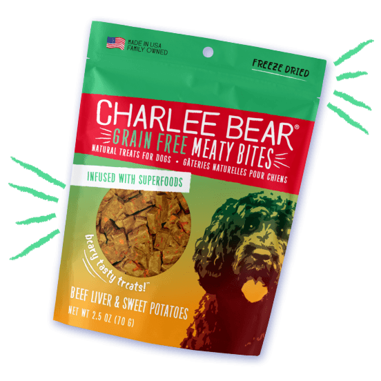 Charlee Bear Grain Free Meaty Bites Beef Liver & Sweet Potato [variant_title] [option1] | Dog Treats Charlee Bear -  pet-max.myshopify.com
