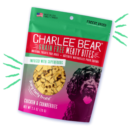 Charlee Bear Grain Free Meaty Bites Chicken & Cranberry