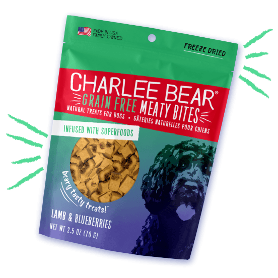 Charlee Bear Grain Free Meaty Bites Lamb & Blueberry [variant_title] [option1] | Dog Treats Charlee Bear -  pet-max.myshopify.com