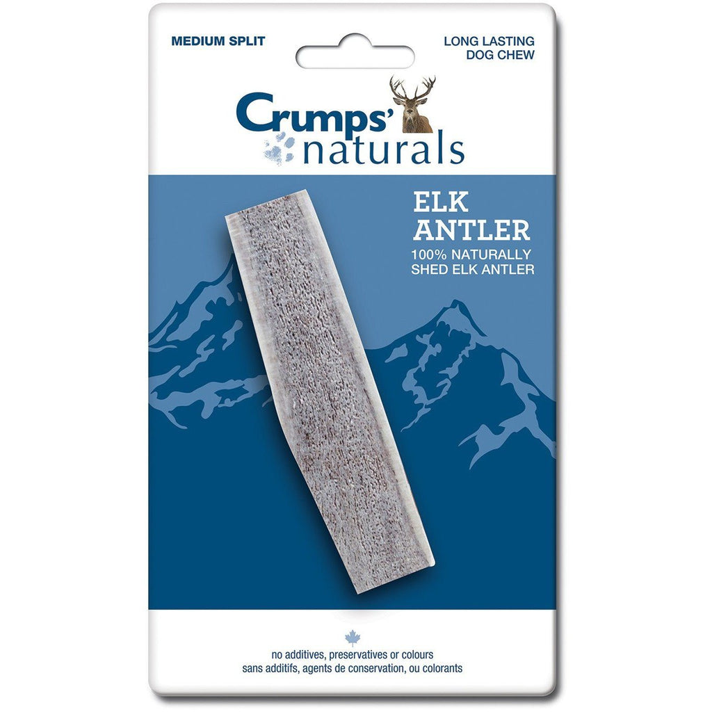 Crumps Naturals Split Elk Antler Natural Flavour  Chew Products - PetMax