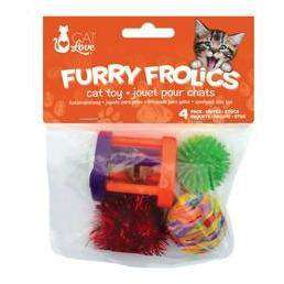 Furry Frolics Cat Toy 4-Pack Assorted Toys, Cat Toys, Rolf C Hagen Inc. - PetMax