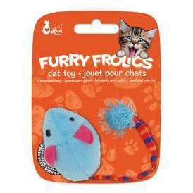 Furry Frolics Cat Toy Catnip Plush Mouse Blue, Cat Toys, Rolf C Hagen Inc. - PetMax Canada