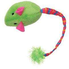 Furry Frolics Cat Toy Catnip Plush Mouse Green, Cat Toys, Rolf C Hagen Inc. - PetMax Canada