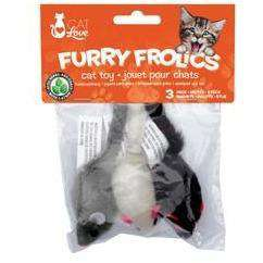 Furry Frolics Cat Toy Catnip Furry Mouse, Cat Toys, Rolf C Hagen Inc. - PetMax Canada