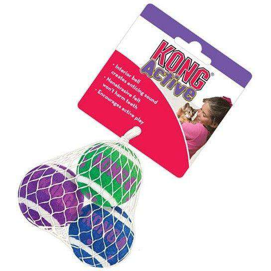 Kong Cat Tennis Balls With Bells  Cat Toys - PetMax
