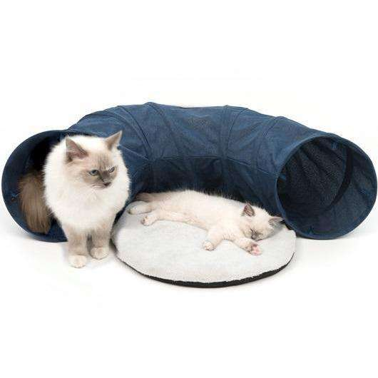 Vesper Tunnel Blue Cat Scratching Posts [variant_title] [option1] - PetMax.ca