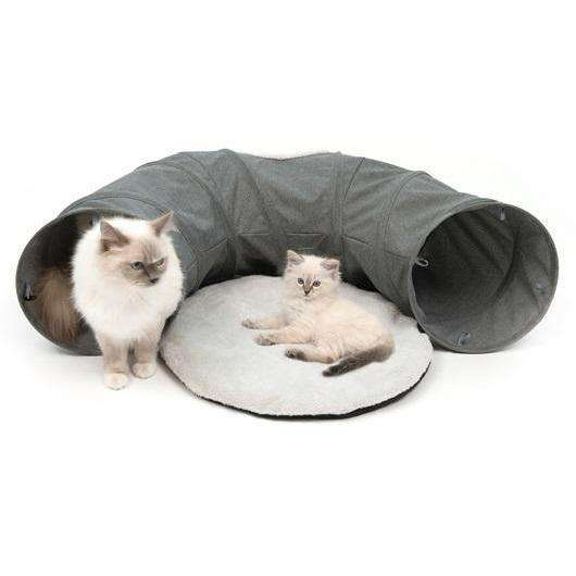 Vesper Tunnel Gray Cat Scratching Posts [variant_title] [option1] - PetMax.ca