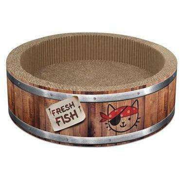 Cat It Play Pirate Barrel Scratcher Large Cat Scratching Posts [variant_title] [option1] - PetMax.ca