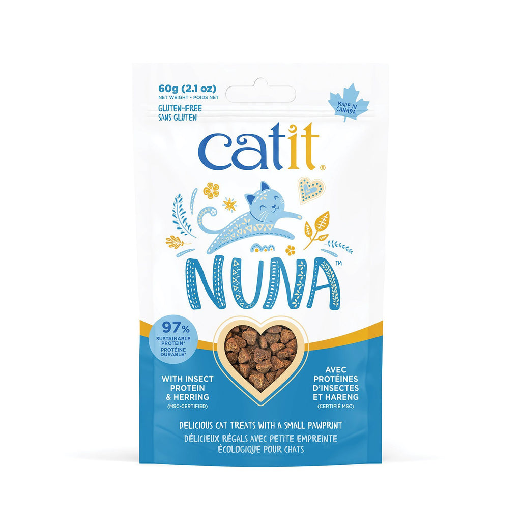 Catit Nuna Cat Treat Insect Protien & Herring  Cat Treats - PetMax