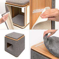 Vesper Cat Furniture V-Cubo Stone, Cat Scratching Posts, Rolf C Hagen Inc. - PetMax Canada