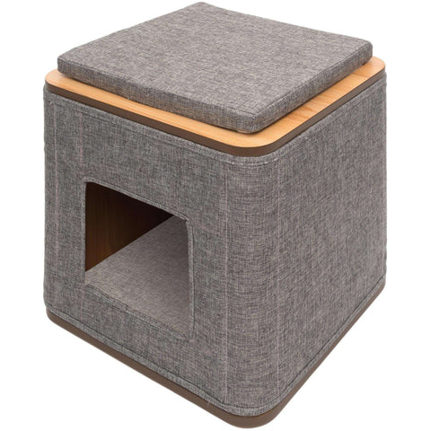 Vesper Cat Furniture V-Cubo Stone, Cat Scratching Posts, Rolf C Hagen Inc. - PetMax