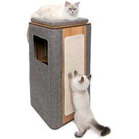 Vesper Cat Furniture V-Cubo Tower Stone, Cat Scratching Posts, Rolf C Hagen Inc. - PetMax